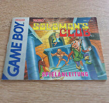 Nintendo Gameboy (GB) // Solomon's Club - Anleitung/Instructions // dt. PAL