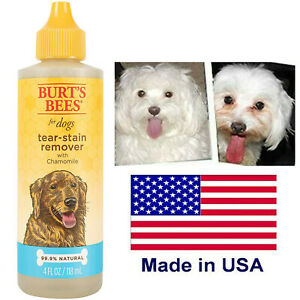 BURT'S BEES for DOGS Tear Stain Remover Chamomile 99.9% Natural 4 fl. oz 118 ml