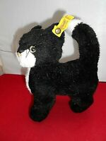 Steiff Black Cat Dossy 2738/16 Ear Button Vintage Plush Collectible Toy W German