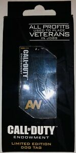CALL OF DUTY: ADVANCED WARFARE ENDOWMENT COLLECTIBLE LIMITED EDITION DOG TAG NEW