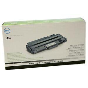 Genuine Dell 113x BLACK Toner Cartridge for 1130 1130n 1133 1135n 2500PageYield