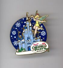 Disney Very Merry Christmas Party Tinker Bell & Cinderella Castle Spinner Pin