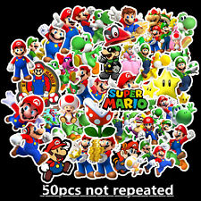 50pcs Super Mario stickers Kids Nursery Removable Wall Decal Art Home Decor