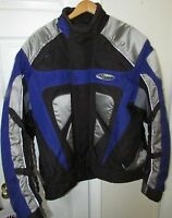 Nitro Euro Sport Bike Jacket Black/Blue XL Style RN109869
