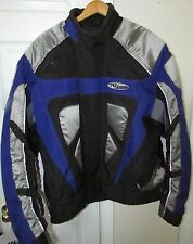 Nitro Euro Sport Bike Jacket Black/Blue XL Style RN109869