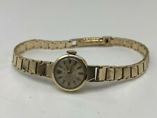 Vintage 9ct 9k solid gold Ladies Rolex Precision Watch Christmas