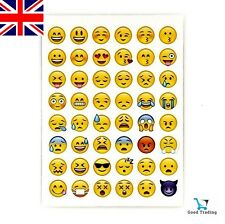 1 Sheet Of 48 Emoji Emoticon Smiley Face Stickers Genuine FREE PP UK SELLER
