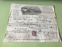 George Maclellen & Co Glasgow Rubber works 1895 illustrated  receipt Ref R32295