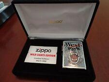 WEST CIGARETTES BEAR WILD LIGHTS EDITION ZIPPO LIGHTER MINT IN BOX 427/1000 2001