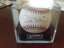 Derek Holland #45 Autographed MLB Baseball in Ball Cube   Texas Rangers Pitcher