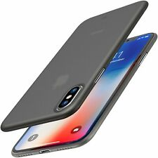 iPhone X Case, Ultra Thin Hard Cover [0.35mm] Worlds Thinnest Protect Bump