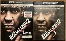 THE EQUALIZER 2 THERE IS NO EQUAL 4K ULTRA HD BLU RAY DVD 2 DISC SET +SLIPCOVER