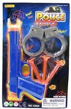 4 SOFT DART PISTOL W KIDS HANDCUFFS toys #424 kids pistols dress up guns pretend