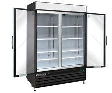Maxx Cold Mxm2-48Rb 54in Commercial 2 Glass Door Merchandiser Cooler 48cf Black