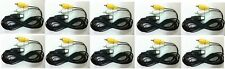 10 Lot New Rca Av A/V Audio Video Cable Cords for Sega Master System 1 Console