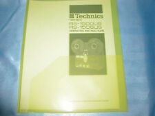 TECHNICS RS-1500/06 REEL TO REEL OPERATING INSTRUCTIONS FREE SAME DAY SHIPPING