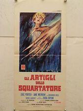 GLI ARTIGLI DELLO SQUARTATORE horror Hammer Locandina originale 1971