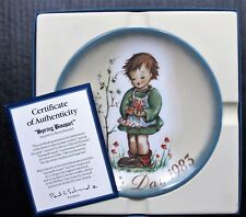 "Schmid 8"" Plate Spring Bouquet Mother's Day 1983 Berta Hummel Cod Boxed Euc"