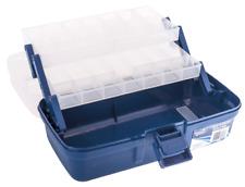 Jarvis Walker Deluxe Tackle Box 2 Bandeja (Transparente / Azul)