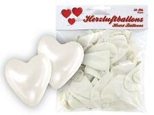 Lot de 25 ballon de baudruche en forme de coeur blanc décoration d'anniversaire