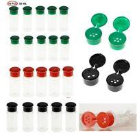 10x Plastic Spice Jars Bottles Herbs Condiments Salt Seasoning Storage Container