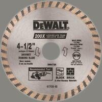 DEWALT DW4725 High Performance 4-1/2-Inch Dry Cutting Continuous Rim Diamond Saw