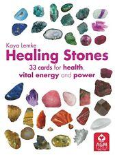 Healing Stones Cards for Health Energy NEW 33 cards 80 pg Guidebook Kaya Lemke