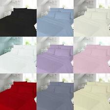 Lenzuola e federe rosso Lavabile in lavatrice 100% Cotone