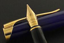 WATERMAN L'ETALON BLUE & GOLD FOUNTAIN PEN  FOUNTAIN PEN 18K GOLD MED IN BX @@
