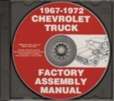 CHEVROLET & GMC 1967, 1968, 1969, 1970, 1971 & 1972 Truck Assembly Manual CD
