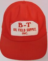 Rare Old Vintage B-T OIL FIELD SUPPLY Advertising PATCH SNAPBACK TRUCKER HAT CAP