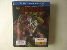 DC Comics The Killing Joke (Blu-ray/DVD, UV, 2016) NEW Target Steelbook
