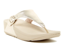 87cb40a54 Fitflop The Skinny Women s Pale Gold Thong Sandal Sz 7 2762