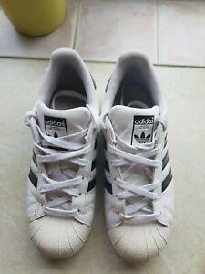 Adidas Superstars Size 5.5 White