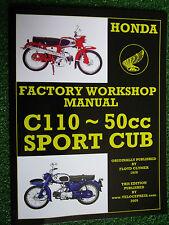 HONDA 50cc C110 SPORTS CUB MOTORCYCLE FACTORY WORKSHOP MANUAL 1962-1969