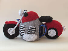 Motorbike Tea Cosy Knitting Pattern by TeaCosyFolk to Knit your own!