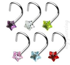 Set Nose Screw Nose Ring Stud 20G 18G Surgical Steel 3mm Prong