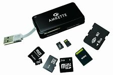 Amkette Multi Format Card Reader with Multi Reader Ports & Manufacturer Warranty