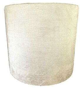 "EXOTICA WHITE VELVET DRUM SHADE APPR.16""w x14""H OUTSTANDING CONDITIONS"