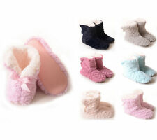 Women's Booties Slippers Fold Over Cuff Sherpa Fleece Lined Non Slip Traction
