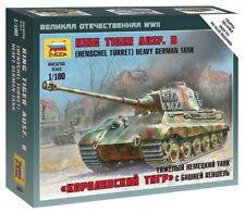 Zvezda 1/100 King Tiger Ausf. B (Henschel Tourelle) Lourd Char Allemand # 6204