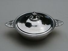 CHRISTOFLE LEGUMIER METAL ARGENTE ACANTHES PERLES Silverplate Vegetable Tureen