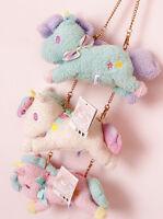 Sanrio Little Twin Stars Pink Blue White Wallet/Coins Purse Bag Plush 3PCS Gift