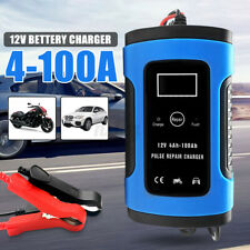 Smart Car Battery Charger 12V 6A LCD Motorcycle Truck Pulse Repair Jump Starter