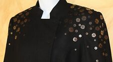 VIVIENNE TAM Black Wool Art-to-Wear Avant Garde Asymmetrical Blazer Jacket Sz 8