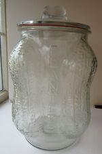 Mr Peanut 4 Corner Jar ORIGINAL  Embossed Lid / Lid Gasket, USA Bottom
