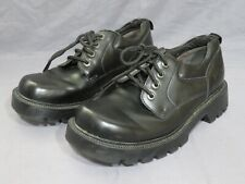 Men's Skechers Black Leather Lace Up Non Slip Oxford Work Shoes Size 9 WORN ONCE