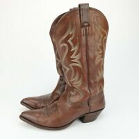 NOCONABOOTS 7620 Brown Soft Leather Cowboy Western Mens Size 8 B NARROW