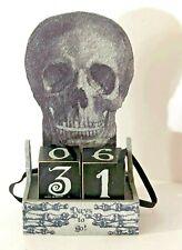 Primitives by Kathy Halloween Skull Countdown Blocks
