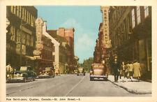Vintage Postcard Rue St. Jean Quebec Canada St John street